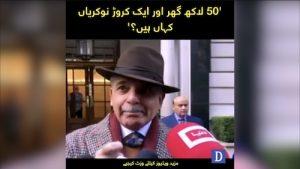 '50 Lakh ghar aur aik caror nokrian kahan hen?' Shehbaz Sharif