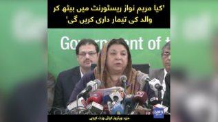 'Kiya Maryam Nawaz Restaurant mai beth kar walid ki temardari karengi' Dr. Yasmin Rashid
