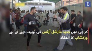 Karachi mein jadeed martial arts ki tarbiyat dene kay liye workshop ka inaaqad