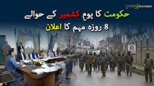 Hakoomat ka Youm-e-Kashmir kay hawalay say 8 roza muhim ka ailan
