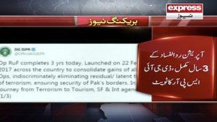 Operation Rad-ul-Fasad kay 3 saal mukamal