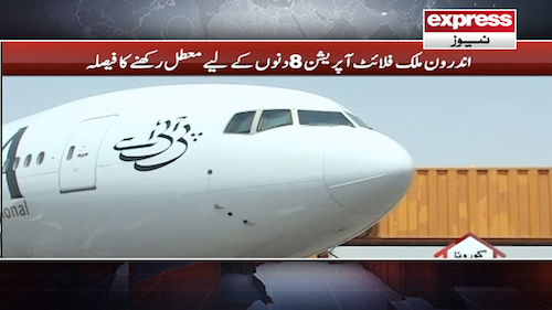 Domestic flights suspended for 8 days