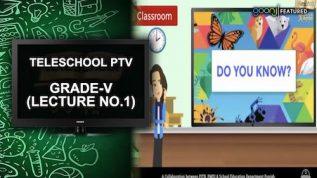 Teleschool PTV Grade-V (Lecture No.1)