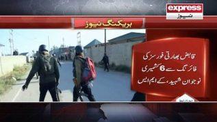 Maqbooza Kashmir: Qabiz Bharti forces ny 6 nojawano ko shaheed kr dia